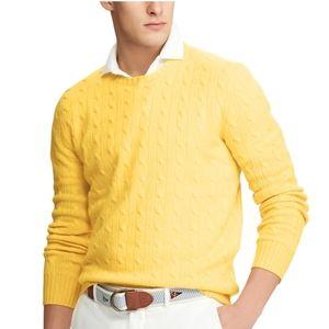 Polo by Ralph Lauren Yellow Crewneck Sweater